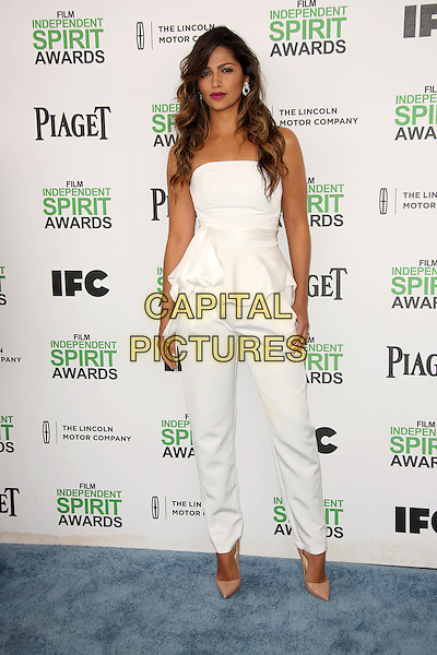 SANTA MONICA, CA - March 01: Camila Alves at the 2014 Film Independent Spirit Awards Arrivals, Santa Monica Beach, Santa Monica,  March 01, 2014. Credit: Janice Ogata/MediaPunch<br /> CAP/MPI/JO<br /> &copy;JO/MPI/Capital Pictures