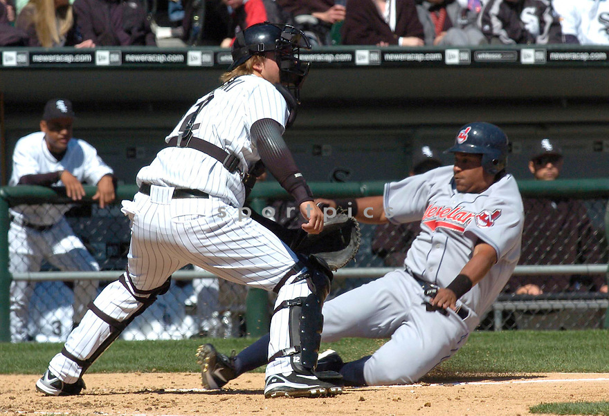 AJ Pierzynski, of the Chicago White Sox, in action against the Cleveland Indians on April 4, 2006 in Chicago...Indians win 8-2....Chris Bernacchi / SportPics