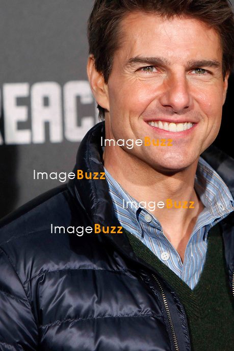 Tom Cruise attends the 'Jack Reacher' premiere at the Callao cinema in Madrid, Spain. December 13, 2012.