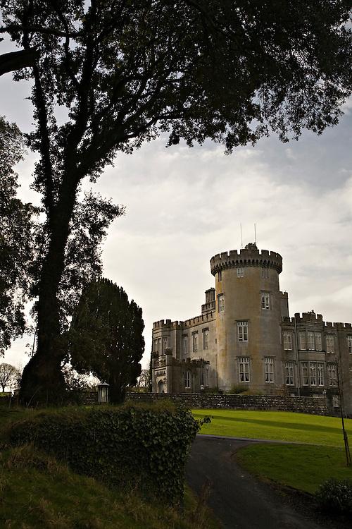 Dromoland Castle tower near Ennis, Ireland