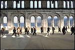 Torino. corso Castelfidardo. Gennaio 2011. Le OGR (Officine Grandi Riparazioni), ribattezzate Officine Grandi Eventi, si preparano ai festeggiamenti per il 2011.