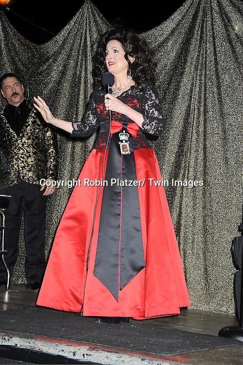 "Robin Strasser entertains at  The ""Daytime Meets Nighttime"" hosted by ..The Imperial Court of New York on November 4, 2011 at ..The Jan Hus Theatre in New York City. The benefit was for The Jan Hus Theatre and Lifebeat."
