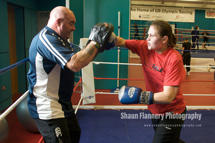 Pix: Shaun Flannery/shaunflanneryphotography.com..COPYRIGHT PICTURE>>SHAUN FLANNERY>01302-570814>>07778315553>>..7th November 2009..........GB Womens Boxing Assesment Camp, English Institute for Sport, Sheffield..Rebecca Price