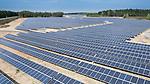 Solarpark der Firma Wirsol in Hütten, bei Grafenwöhr, Bayern, Deutschland.