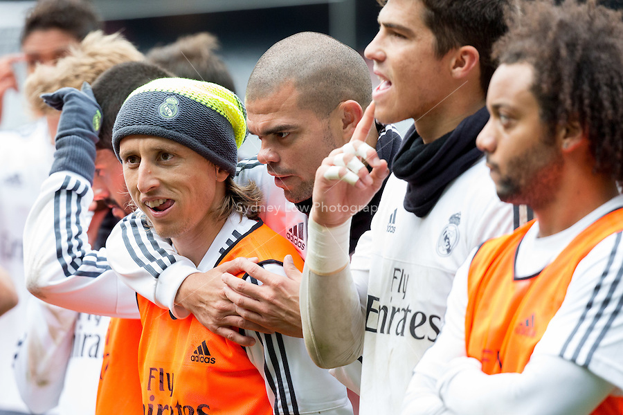 Melbourne, 17 July 2015 - Luka Modric of Real Madrid watches on at the Melbourne Cricket Ground ahead of their International Champions Cup match against AS Roma tomorrow in Melbourne, Australia. Photo Sydney Low/AsteriskImages.com