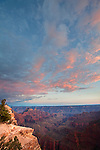 View of the Grand Canyon from Bright Angel Point on the North Rim of the Grand Canyon, Arizona