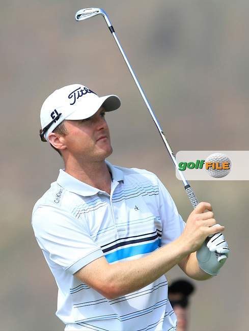 Michael Hoey (NIR) on the 3rd tee during Round 4 of the True Thailand Classic at the Black Mountain Golf  Club on Sunday 15th February 2015.<br /> Picture:  Thos Caffrey / www.golffile.ie