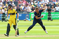 Jamie Porter in bowling action for Essex during Gloucestershire vs Essex Eagles, NatWest T20 Blast Cricket at The Brightside Ground on 13th August 2017