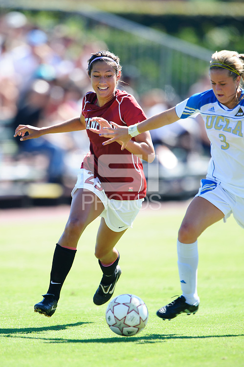 LOS ANGELES, CA - October 10.  Stanford's Christen Press during the Cardinal's match against the UCLA Bruins.  Stanford defeated UCLA 2-0.