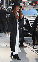NEW YORK, NY - AUGUST 31: Darby Stanchfield  spotted leaving 'Good Morning America' after participating in the 'Day of Giving' sponsored by ABC/Disney to support Hurricane Harvey victims in New York, New York on August 31, 2017.  Photo Credit: Rainmaker Photo/MediaPunch