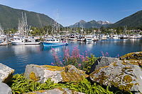 Lady Brijit commercial fishing trolling vessel, Crescent Harbor, Sitka, Baranof Island, southeast, Alaska.