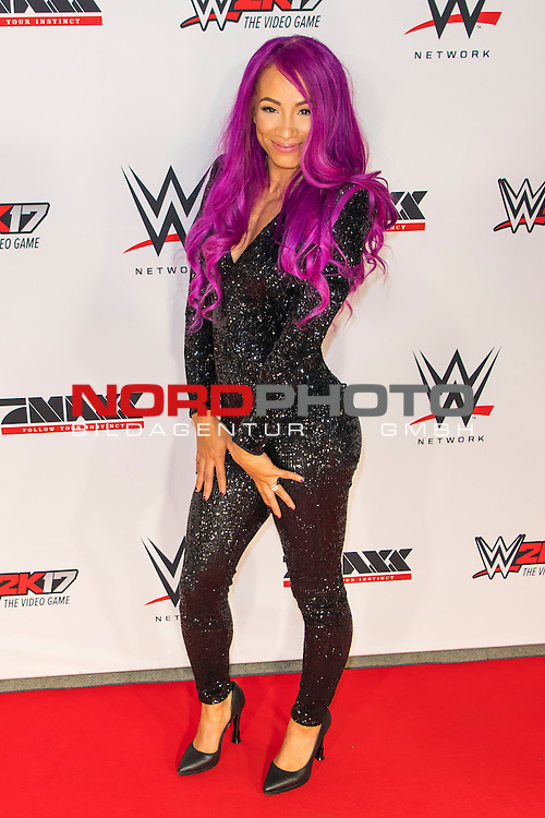 03.11.2016, Olympia Halle, Muenchen, GER, WWE Live Event, Roter Teppich  im Bild Sasha Banks (WWE Superstar) <br /> <br /> Foto &copy; nordphoto / Straubmeier