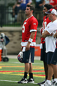July 26th 2008:  Quarterback Trent Edwards (5) of the Buffalo Bills watches a drill during the second day of training camp at St. John Fisher College in Rochester, NY.  Photo Copyright Mike Janes Photography 2008.