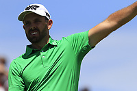 Charl Schwartzel (RSA) tees off the 1st tee to start his match during Thursday's Round 1 of the 117th U.S. Open Championship 2017 held at Erin Hills, Erin, Wisconsin, USA. 15th June 2017.<br /> Picture: Eoin Clarke | Golffile<br /> <br /> <br /> All photos usage must carry mandatory copyright credit (&copy; Golffile | Eoin Clarke)