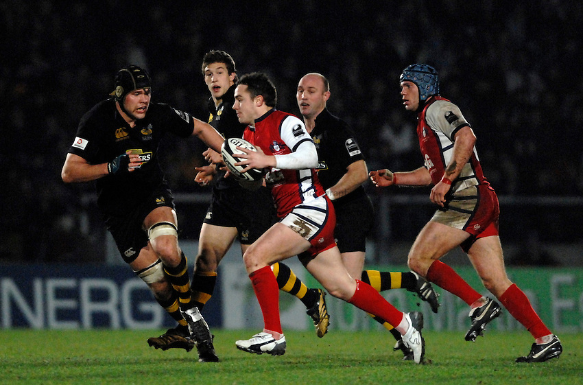Photo: Richard Lane..London Wasps v Gloucester Rugby. Guinness Premiership. 26/12/2006. .Gloucester's Ryan Lamb attacks.