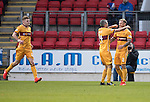 St Johnstone v Motherwell&hellip;17.12.16     McDiarmid Park    SPFL<br />Richard Tait celebrates his goal with Keith Lasley<br />Picture by Graeme Hart.<br />Copyright Perthshire Picture Agency<br />Tel: 01738 623350  Mobile: 07990 594431