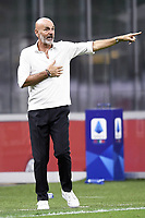 Stefano Pioli coach of AC Milan during the Serie A football match between AC Milan and Bologna FC at stadio Giuseppe Meazza in Milano ( Italy ), July 18th, 2020. Play resumes behind closed doors following the outbreak of the coronavirus disease. <br /> Photo Image Sport / Insidefoto