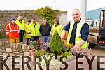Anthony Moran Kerry County Council putting the finishing touches to the garden next to the small roundabout at Strand Street, Tralee dedicated to Monsg Hugh O'Flaherty, who spent some of his early years living across the road.