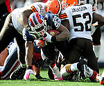 11 October 2009: Buffalo Bills' running back Marshawn Lynch (23) rushes for short yardage in the third quarter against the Cleveland Browns at Ralph Wilson Stadium in Orchard Park, New York. The Browns defeated the Bills 6-3 for Cleveland's first win of the season...Mandatory Photo Credit: Ed Wolfstein Photo