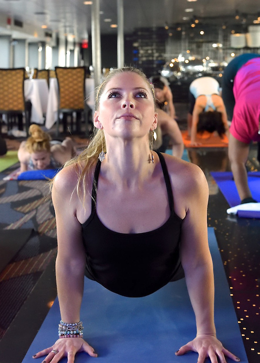Marketing photo for a yoga cruise.
