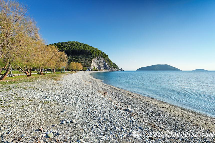 The beach Hovolo of Skopelos island, Greece