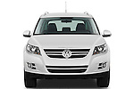 Straight front view of a 2010 Volkswagen Tiguan Wolfsburg SUV  Stock Photo