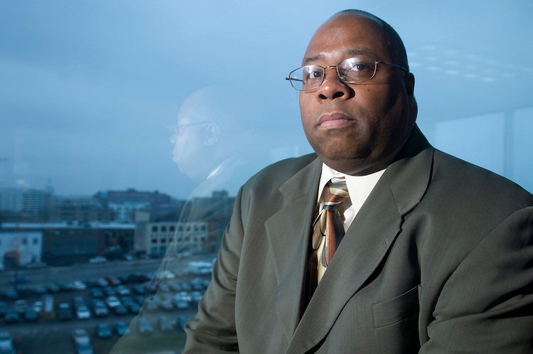 Clarence Carter, director of the DC Department of Human Services, poses in his office on Tuesday, Dec. 11, 2007.