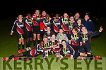 St Brendans Park U14 team celebrating after beating Camp United 6-0 last Friday night in Mounthawk Park, Tralee.