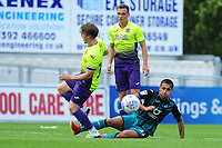 Yan Dhanda  of Swansea City in action during the pre season friendly match between Exeter City and Swansea City at St James Park in Exeter, England, UK. Saturday, 20 July 2019