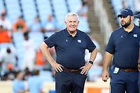 CHAPEL HILL, NC - SEPTEMBER 07: Head Coach Mack Brown of the University of North Carolina during a game between University of Miami and University of North Carolina at Kenan Memorial Stadium on September 07, 2019 in Chapel Hill, North Carolina.