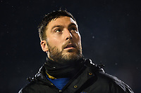 Matt Banahan of Bath Rugby looks on from the sidelines. Anglo-Welsh Cup Semi Final, between Bath Rugby and Northampton Saints on March 9, 2018 at the Recreation Ground in Bath, England. Photo by: Patrick Khachfe / Onside Images
