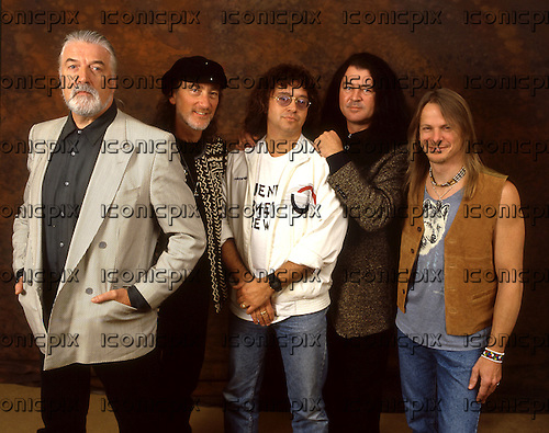 DEEP PURPLE Mark VII - (L-R) Jon Lord, Roger Glover, Ian Paice, Ian Gillan, Steve Morse -  photographed exclusively in London UK - 05 Dec 1995.  Photo credit: George Chin/IconicPix