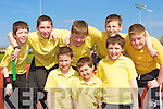 Running at the Primary schools athletic championships in An Riocht track Castleisland on Thursday was front row l-r: Darragh McCarthy, Evan O'Brien, Sean Prenderville. Back row: David Brown, Eoin McCarthy, David O'Leary, Eamon Brennan and Dominick Keane Gaelscoil Aogain Castleisland
