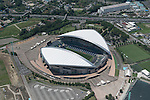 Saitama Stadium: Tokyo, Japan: Aerial view of proposed venue for the 2020 Summer Olympic Games. (Photo by AFLO)