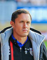 Grimsby Town Manager Paul Hurst during the Sky Bet League 2 match between Cambridge United and Grimsby Town at the R Costings Abbey Stadium, Cambridge, England on 15 October 2016. Photo by PRiME Media Images.