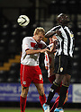 Mark Roberts of Stevenage and Enoch Showunmi of Notts County challenge for a header.  Notts County v Stevenage- npower League 1 -  Meadow Lane, Nottingham - 2nd October, 2012. © Kevin Coleman 2012