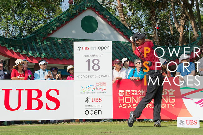 Pablo Larrazabal of Spain tees off the 18th hole during the 58th UBS Hong Kong Golf Open as part of the European Tour on 11 December 2016, at the Hong Kong Golf Club, Fanling, Hong Kong, China. Photo by Marcio Rodrigo Machado / Power Sport Images
