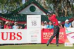 Pablo Larrazabal of Spain tees off the 18th hole during the 58th UBS Hong Kong Golf Open as part of the European Tour on 11 December 2016, at the Hong Kong Golf Club, Fanling, Hong Kong, China. Photo by Marcio Rodrigo Machado / Power Sport Images