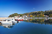 The port in Glossa of Skopelos island, Greece