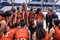Action from the 2019 Schick AA Girls' National Secondary Schools Basketball Championship final between St Peters School Cambridge and Hamilton Girls' High School at the Central Energy Trust Arena in Palmerston North, New Zealand on Saturday, 5 October 2019. Photo: Dave Lintott / lintottphoto.co.nz