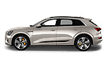 Car driver side profile view of a 2019 Audi e-tron Advanced 5 Door SUV