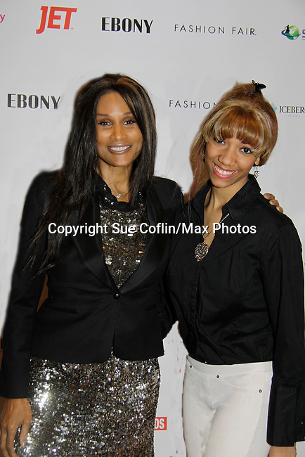 Vanessa poses with Beverly Johnson - Color of Beauty Awards honoring supermodel Beverly Johnson on February 4, 2014 at Holy Apostles, New York City, New York. (Photo by Sue Coflin/Max Photos)