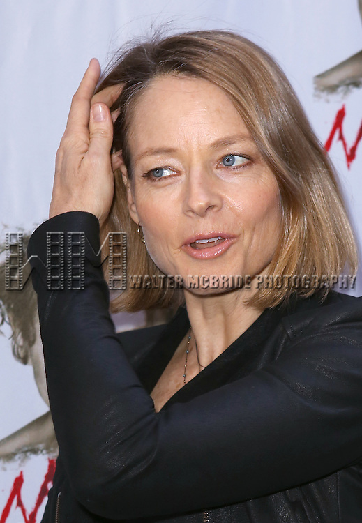 Jodie Foster attending the Broadway Opening Night Performance of 'MACBETH' starring Alan Cumming at The Barrymore Theatre  in New York City on 4/21/2013...