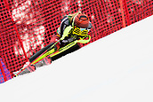 2nd February 2019, Maribor, Slovenia;  Erin Mielzynski of Canada out of course and emotional during the Audi FIS Alpine Ski World Cup Women's Slalom Golden Fox on February 2, 2019 in Maribor, Slovenia