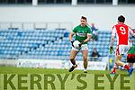 Jason Hickson West Kerry in action against James O'Donoghue Legion in the Quarter Final of the Kerry Senior County Championship at Austin Stack Park on Sunday.