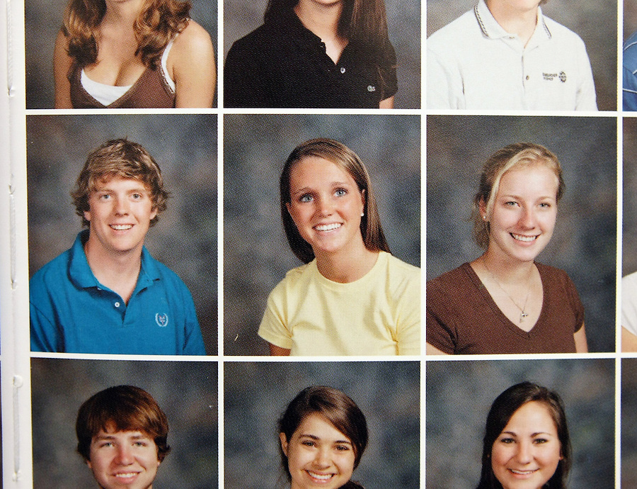 A 2007 yearbook photo of former University of Virginia student Yeardley Love, middle, a women's lacrosse player who was killed in her apartment earlier this week in Charlottesville, Va. George Huguely, 22, a member of UVa's nationally ranked men's lacrosse team, faces a first-degree murder charge in the slaying of Yeardley Love, also 22. (Credit Image: Andrew Shurtleff)..