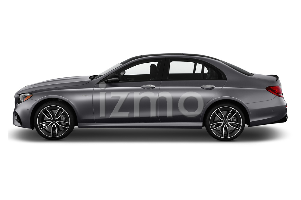 Car Driver side profile view of a 2020 Mercedes Benz E-Class AMG-E53 4 Door Sedan Side View