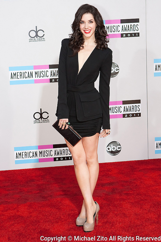 11/20/11 Los Angeles, CA: Erica Dasher during the arrivals at the 2011 American Music Awards held at the Nokia Theatre.