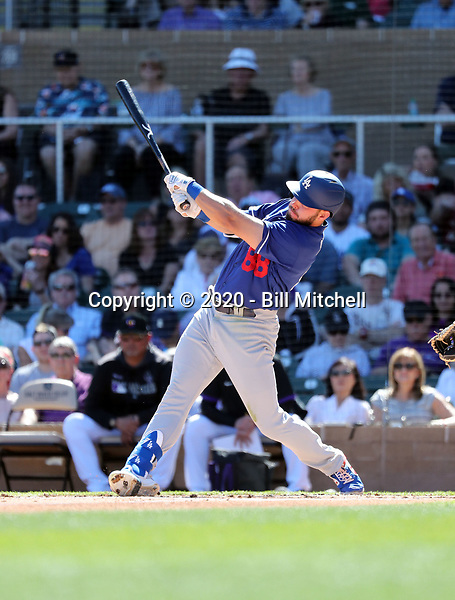 Zach Reks - Los Angeles Dodgers 2020 spring training (Bill Mitchell)