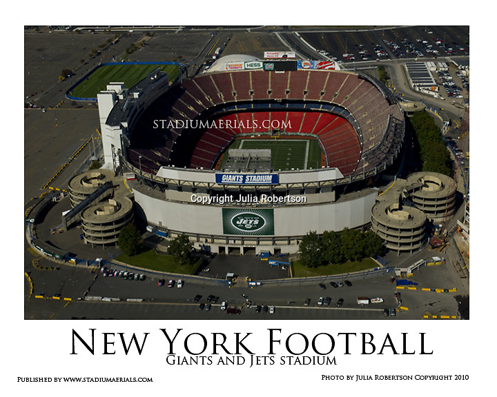 wholesale dealer ed83c f5fcd Aerial view Of the original Giants Stadium and New York Jets ...